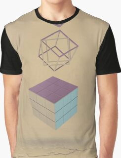 Geometric Shapes on Old Paper Graphic T-Shirt