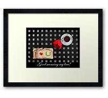 Coffee is served! Framed Print
