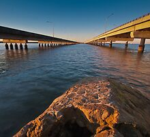 Dual Bridges Brisbane Australia by PhotoJoJo