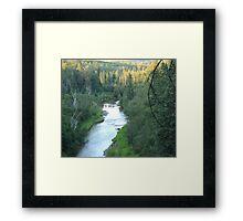 Sunset on Whitemud Ravine Framed Print