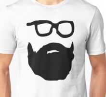beard & glasses Unisex T-Shirt