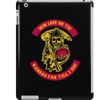 Win Lose Or Tie Kansas Fan Till I Die. iPad Case/Skin