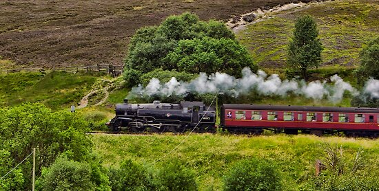 Steaming through the Moors by Trevor Kersley