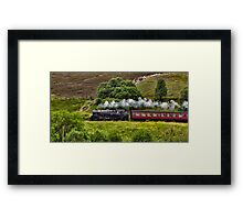 Steaming through the Moors Framed Print