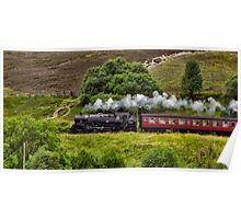 Steaming through the Moors Poster
