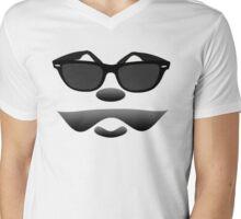 Moustache Mens V-Neck T-Shirt