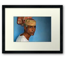Portrait of a Man in Charminar Framed Print