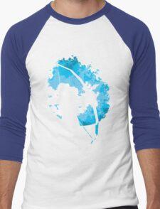 He walks at night... (Blue) Men's Baseball ¾ T-Shirt