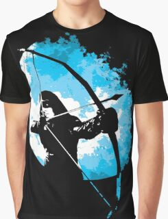He walks at night... (Blue) Graphic T-Shirt