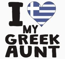 I Heart My Greek Aunt Kids Tee