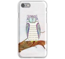 Owl on a Branch iPhone Case/Skin