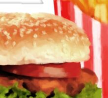 50s Burger and Chips ! Sticker