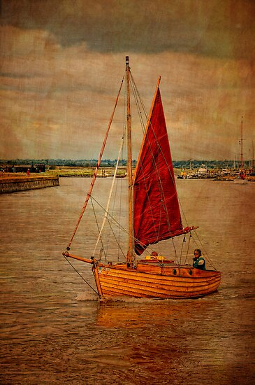 Old sailing boat by Karen  Betts