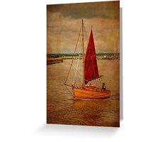 Old sailing boat Greeting Card