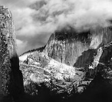 In the clouds, Half Dome, Yosemite, California by Pete Paul