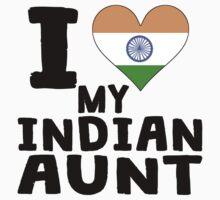 I Heart My Indian Aunt Kids Tee