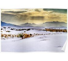 Golden Hour at White Sands, New Mexico Poster