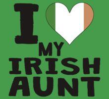 I Heart My Irish Aunt Baby Tee