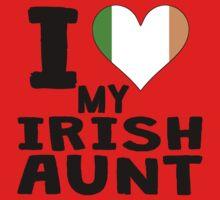 I Heart My Irish Aunt Kids Tee