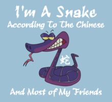 Very Funny Year of The Snake T-Shirt by ChineseZodiac