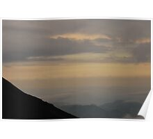 Sunset seen from Volcan Pacaya, Guatemala Poster