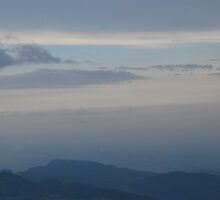 Sunset seen from Volcan Pacaya, Guatemala by Marie Anne Hale