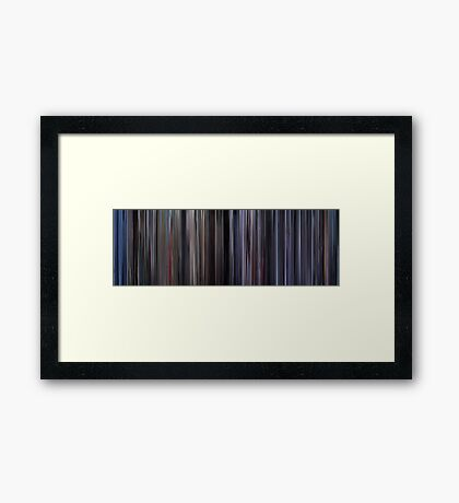 Moviebarcode: Space Cowboys (2000) Framed Print