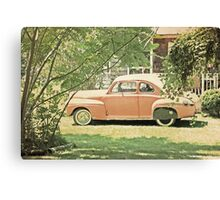 Vintage Car in Terracotta Canvas Print