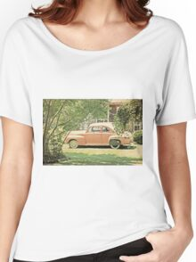 Vintage Car in Terracotta Women's Relaxed Fit T-Shirt