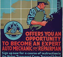 The Motor Transport Corps offers you an opportunity to become an expert auto mechanic and repairman 002 by wetdryvac
