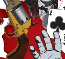 Dead Man's Hand Sticker