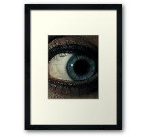 blu eye Framed Print