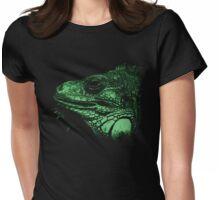 leguan, animal, girl shirt Womens Fitted T-Shirt
