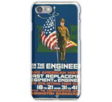 Join the engineers and make American history First replacement regiment of engineers iPhone Case/Skin