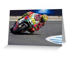 Valentino Rossi at laguna seca 2012 Greeting Card