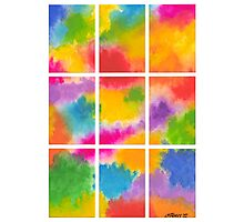 ABSTRACT ARTWORK INTO 9 PARTS Photographic Print