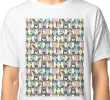 Hipster Cats Pattern Classic T-Shirt