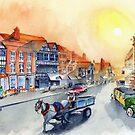 TEWKSBURY high street - Gloucester England by Rob Beilby