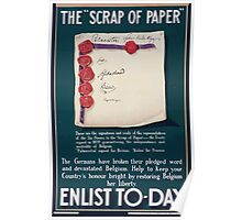 The scrap of paper Enlist to day Poster