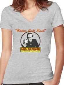 Better Call Saul!! Women's Fitted V-Neck T-Shirt