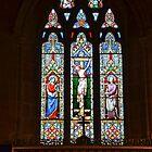 Uplyme Church Window, Devon Uk by lynn carter