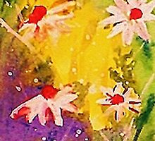 #1 series of  daisies, watercolor by Anna  Lewis