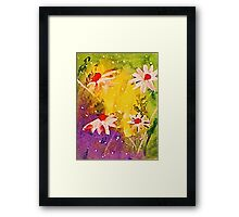 #1 series of  daisies, watercolor Framed Print