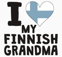 I Heart My Finnish Grandma One Piece - Long Sleeve