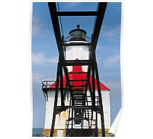 Lighthouse and Catwalk, St. Joseph, Michigan Poster