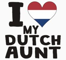 I Heart My Dutch Aunt Baby Tee