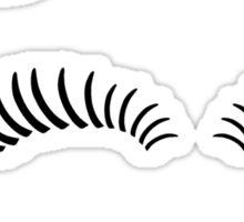 Eye lashes, kiss and hair bow. Sticker
