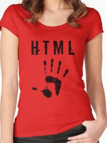 HTML 5  Women's Fitted Scoop T-Shirt