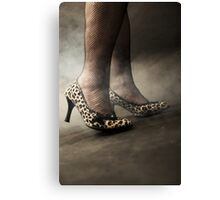 leopard shoes Canvas Print