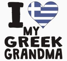 I Heart My Greek Grandma One Piece - Short Sleeve